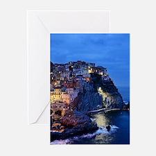 Italy Cinque Terre Tourist destinat Greeting Cards