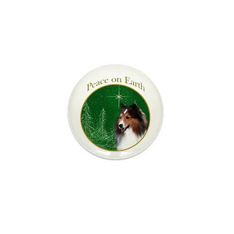 Sable Sheltie Peace Mini Button (100 pack)