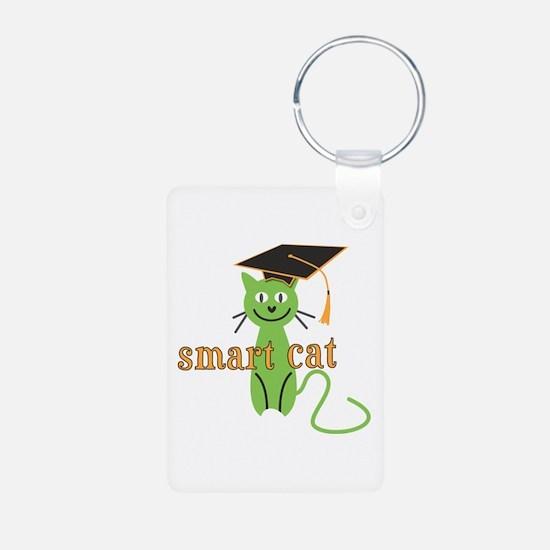 Funny Grad Smart Cat Keychains