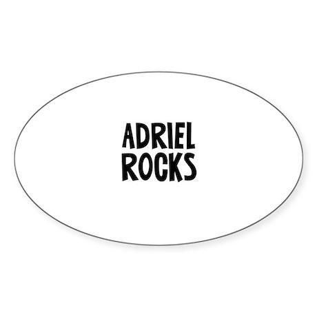 Adriel Rocks Oval Sticker