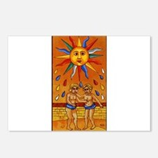 sun tarot card Postcards (Package of 8)