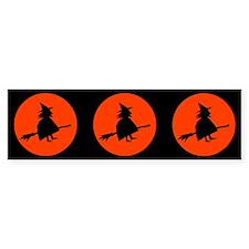 Flying Witch Bumper Bumper Sticker