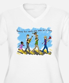 Changing the world one walk at a time T-Shirt