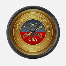 CS Cavalry Large Wall Clock