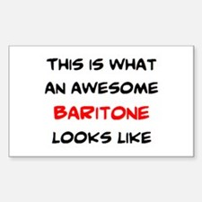 awesome baritone Sticker (Rectangle)