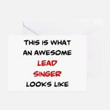 awesome lead singer Greeting Card