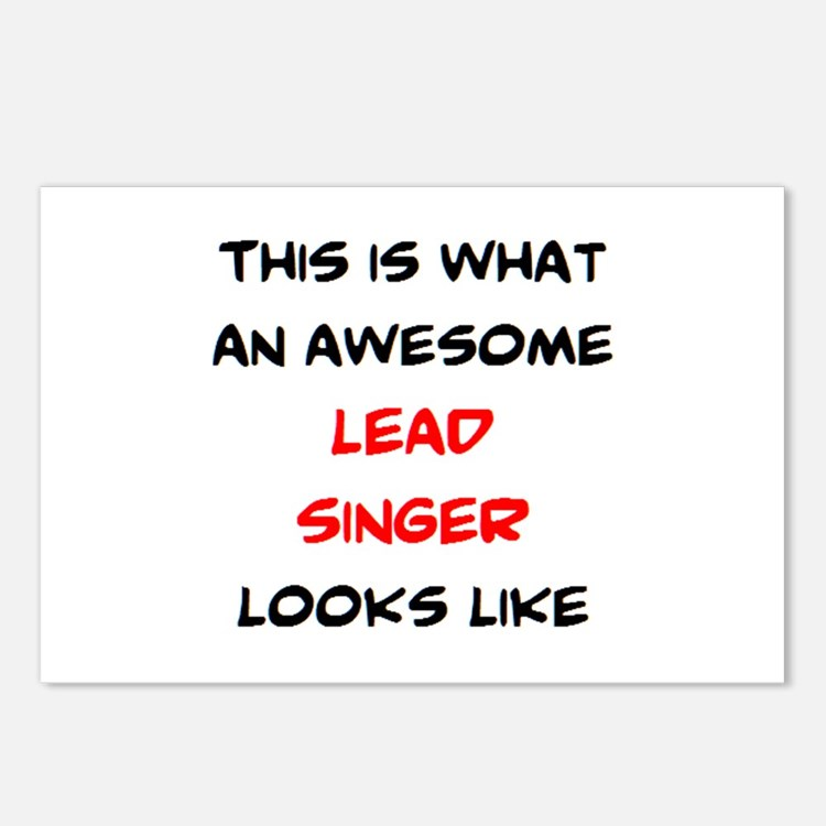 awesome lead singer Postcards (Package of 8)