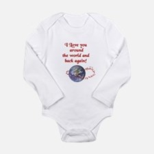Love You Around the World and Back Body Suit