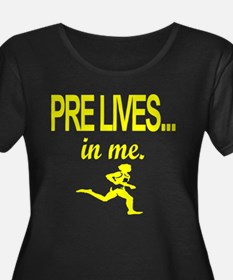 PRE LIVES Yellow Plus Size T-Shirt