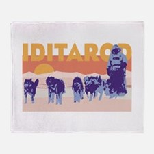 Iditarod Race Throw Blanket