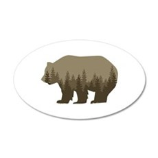 Grizzly Trees Wall Decal