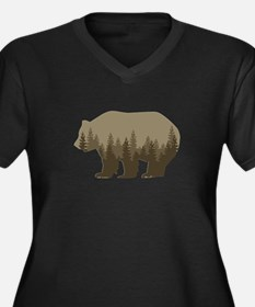 Grizzly Trees Plus Size T-Shirt