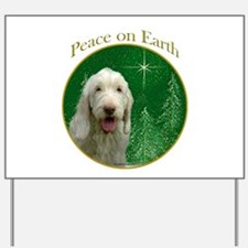 Spinone Peace Yard Sign