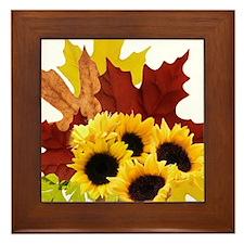 Fall Bouquet Framed Tile