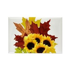 Fall Bouquet Rectangle Magnet