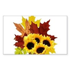Fall Bouquet Rectangle Decal