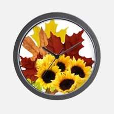 Fall Bouquet Wall Clock