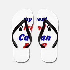 My best friend Canaan Dog Flip Flops