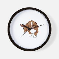 Duck Tollilng Puppy Wall Clock