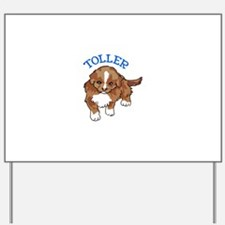 Toller Puppy Yard Sign