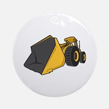Bulldozer Front Round Ornament