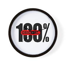 100 Percent Original Wall Clock