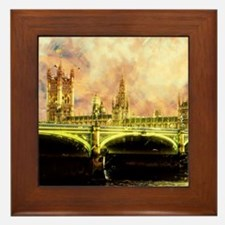 Abstract Golden Westminster Bridge in London Frame