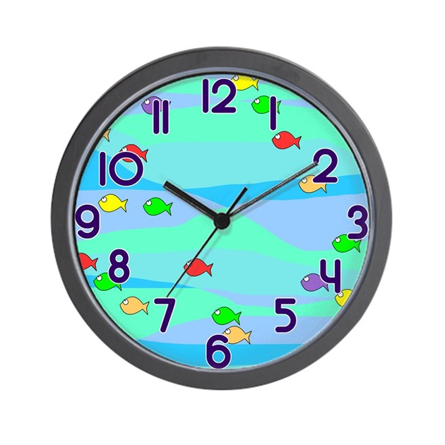 Fishy fish wall clock by goodies4kids for Fish wall clock