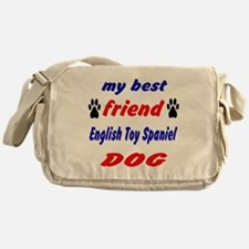 My best friend English Toy Spaniel D Messenger Bag