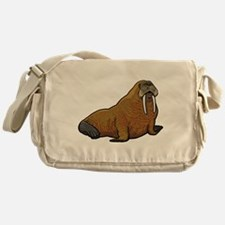 Walrus wild animal Messenger Bag