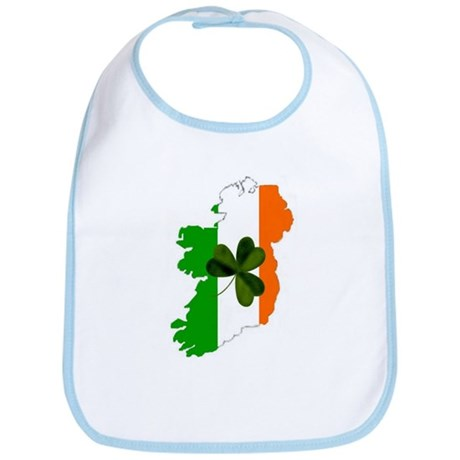 Map of Ireland w/Shamrock Bib