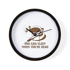 coffee sleep Wall Clock