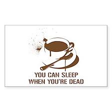 coffee sleep Rectangle Decal