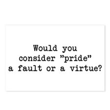 Pride a Fault or Virtue? Postcards (Package of 8)