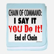 Chain of Command baby blanket