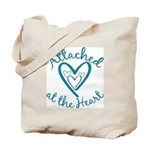 Attached at the Heart Tote Bag
