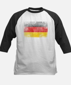 Distressed German Flag Baseball Jersey