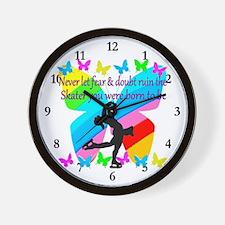 FIGURE SKATER Wall Clock