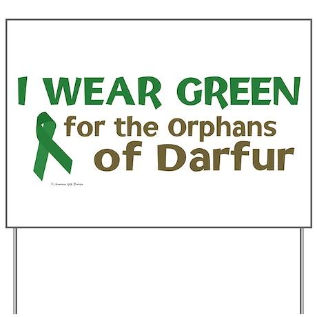 I Wear Green (Darfur Orphans) Yard Sign