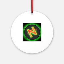 Unique Facebook logo Round Ornament