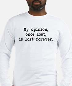 My Opinion - Mr. Darcy Long Sleeve T-Shirt