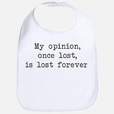 My Opinion - Mr. Darcy Bib