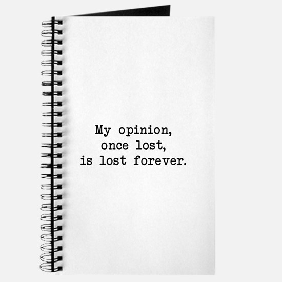 My Opinion - Mr. Darcy Journal