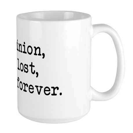 My Opinion - Mr. Darcy Large Mug