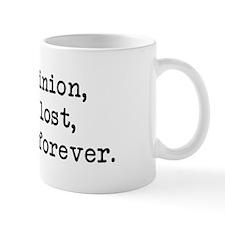My Opinion - Mr. Darcy Small Mug