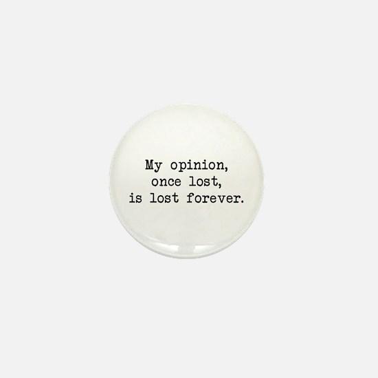 My Opinion - Mr. Darcy Mini Button