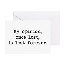 My Opinion - Mr. Darcy Greeting Cards (Pk of 10)