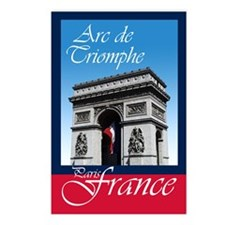 ARC DE TRIOMPHE FRANCE Postcards (Package of 8)