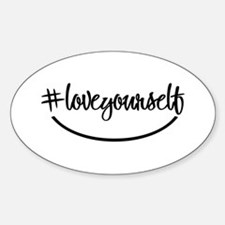 #loveyourself - Oval Decal