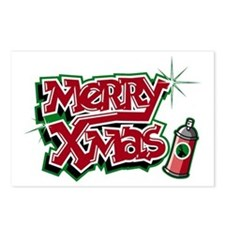 Merry Christmas Graffiti Postcards (Package of 8)